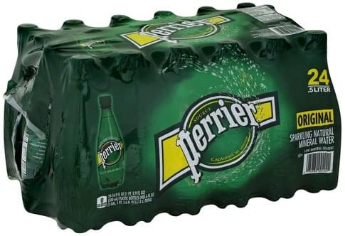 Perrier Natural Mineral, Original Sparkling Water - 24 ea