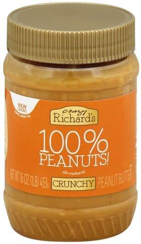 Crazy Richards Crunchy Peanut Butter - 16 oz