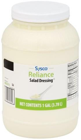 Sysco Salad Dressing - 1 Gal, Nutrition