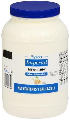 Sysco Mayonnaise - 1 gl, Nutrition