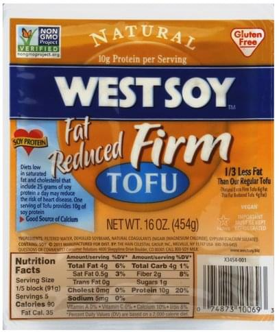 WestSoy Firm, Fat Reduced Tofu - 16 oz
