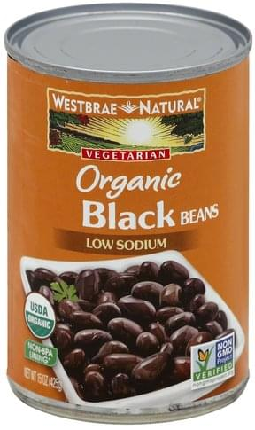 Westbrae Natural Low Sodium, Organic Black Beans - 15 oz