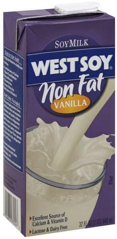 WestSoy Vanilla, Non Fat Soy Milk - 32 oz, Nutrition