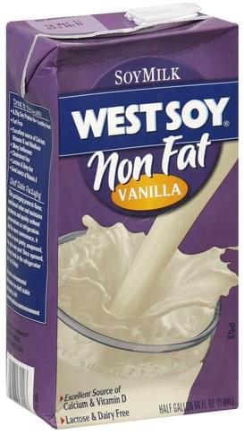 WestSoy Non Fat, Vanilla Soy Milk - 64 oz, Nutrition