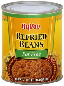 Hy Vee Refried Beans Fat Free