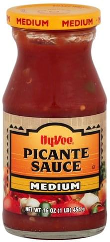 Hy Vee Medium Picante Sauce - 16 oz