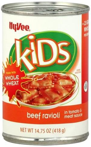 Hy Vee Beef, in Tomato & Meat Sauce Ravioli - 14.75 oz