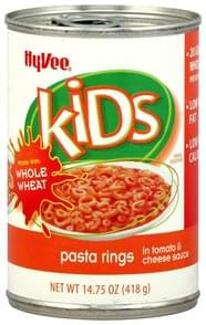 Hy Vee Pasta Rings in Tomato & Cheese Sauce