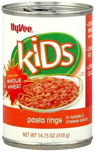 Hy Vee in Tomato & Cheese Sauce Pasta Rings - 14.75 oz