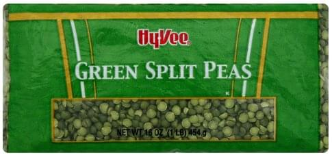 Hy Vee Green Split Peas - 16 oz