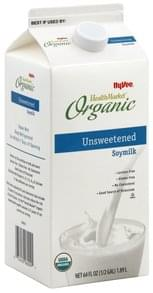 Hy Vee Soymilk Organic, Unsweetened