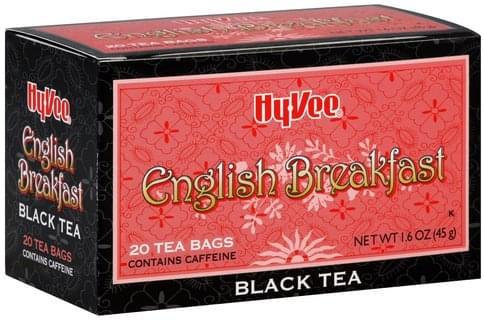 Hy Vee English Breakfast Black Tea - 20 ea