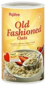 Hy Vee Cereal Old Fashioned Oats