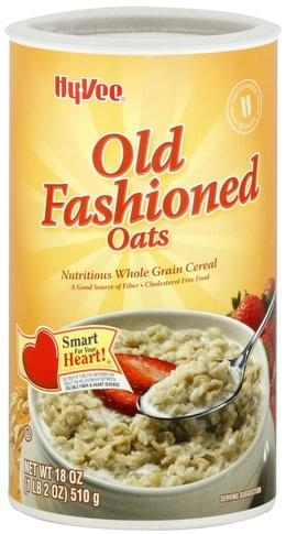 Hy Vee Old Fashioned Oats Cereal - 18 oz
