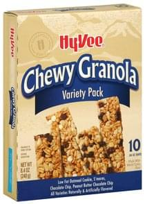 Hy Vee Granola Bars Chewy, Variety Pack