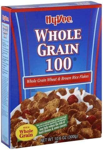 Hy Vee Whole Grain 100 Cereal - 10.6 oz