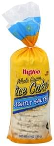 Hy Vee Rice Cakes Whole Grain, Lightly Salted