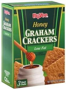 Hy Vee Graham Crackers Honey, Low Fat