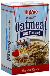 Hy Vee Instant Oatmeal with Flaxseed, Regular Flavor