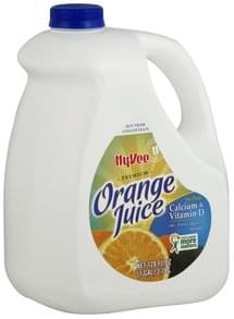 Hy Vee Orange Juice Premium, No Pulp, Calcium & Vitamin D