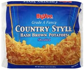 Hy Vee Potatoes Hash Brown, Country Style, Shredded