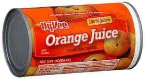 Hy Vee Orange Juice 100%, Frozen Concentrate