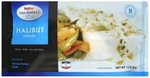 Hy Vee Halibut Steaks - 12 oz