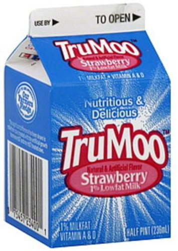 Lowfat, Strawberry, 1% Milkfat Milk