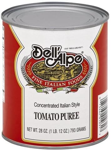 Dell Alpe Concentrated Italian Style Tomato Puree - 28 oz