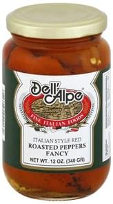 Dell Alpe Roasted Peppers Fancy, Italian Style Red