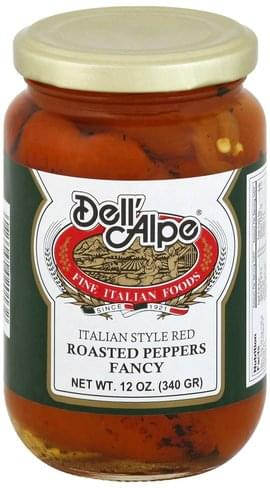 Dell Alpe Fancy, Italian Style Red Roasted Peppers - 12 oz