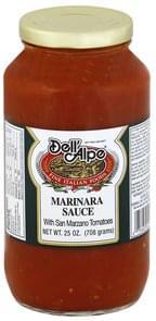 Dell Alpe Marinara Sauce with San Marzano Tomatoes