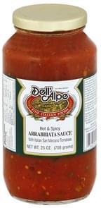 Dell Alpe Arrabbiata Sauce with Italian San Marzano Tomatoes, Hot & Spicy