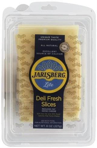 Jarlsberg Reduced Fat, Lite, Swiss Cheese Slices - 8 oz