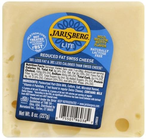 Jarlsberg Reduced Fat, Swiss Cheese - 8 oz
