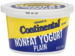 Continental Nonfat Yogurt Plain, Grade A
