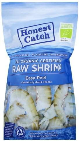 Honest Catch Raw, EU Organic Certified Shrimp - 16 oz