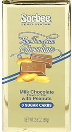 Sorbee Milk Chocolate Flavored Bar with Peanuts