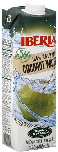 Iberia 100% Natural, Organic Coconut Water - 33.8 oz