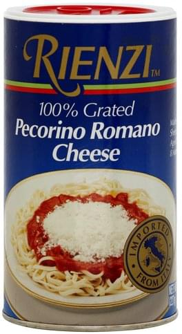 Rienzi Pecorino Romano, 100% Grated Cheese - 8 oz