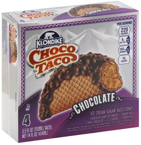Klondike Chocolate Choco Taco - 4 ea