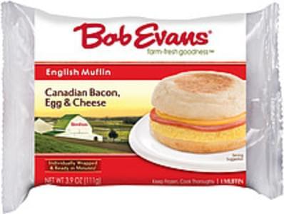 Bob Evans English Muffin Canadian Bacon Egg & Cheese