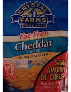 Crystal Farms Fat Free Cheddar Cheese