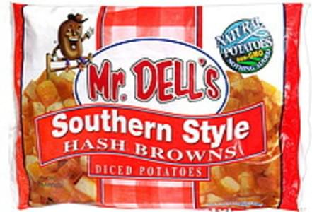 Mr Dells Hash Browns Southern Style Diced Potatoes