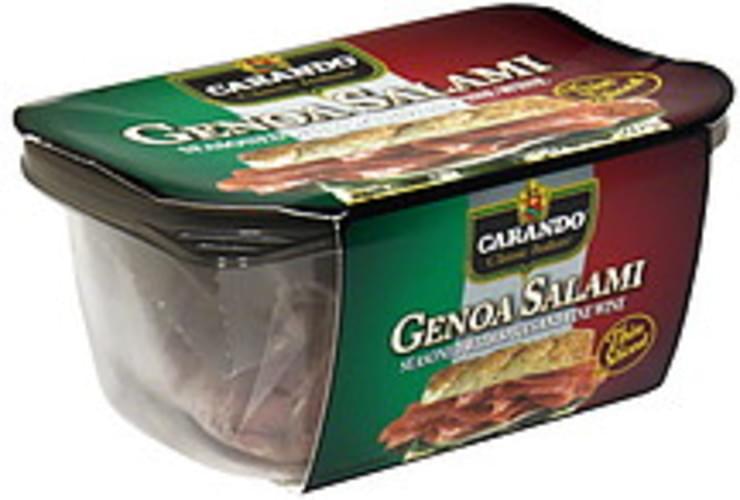 carando thin sliced genoa salami  8 oz nutrition