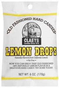 Claeys Old Fashioned, Lemon Drops Hard Candies - 6 oz