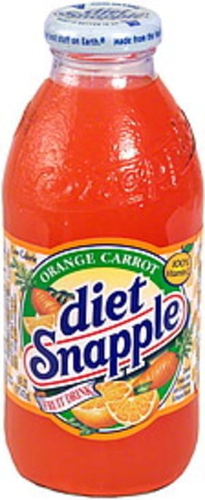Snapple Orange Carrot Diet Fruit Drink - 16 oz
