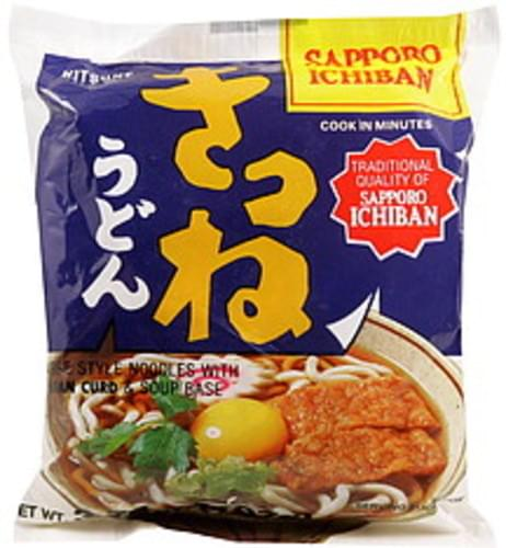Sapporo Ichiban with Fried Bean Curd & Soup Base Japanese