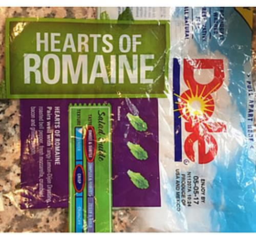 Dole Hearts of Romaine - 85 g