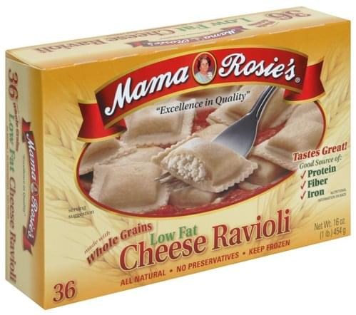 Mama Rosies Low Fat, Made with Whole Grains Cheese Ravioli - 16 oz